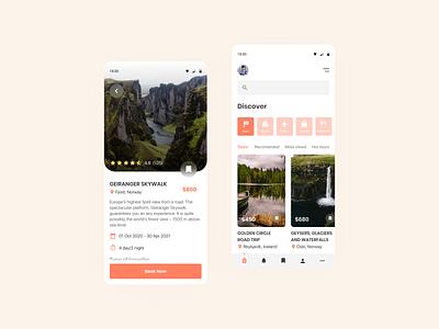 Travel service - Mobile App travel app mobile app ux ui design