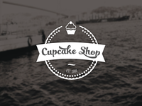 Cupcake Shop Label
