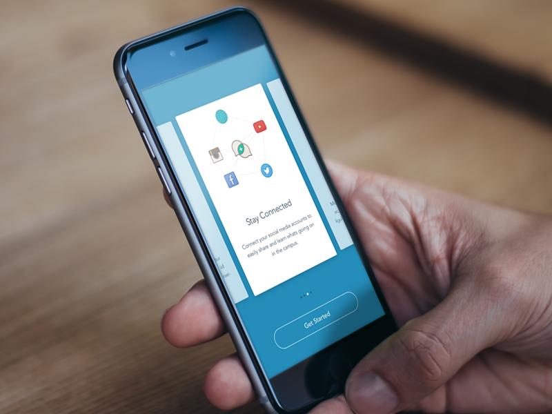 Involvio Signup welcome social mobile ios9 cards walkthrough onboarding sign up involvio