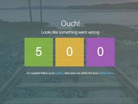 500 Error Page