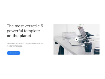 Clab Video Banner travel startup responsive products landing portfolio listing job insurance gym and fitness creative corporate charity business bootstrap agency
