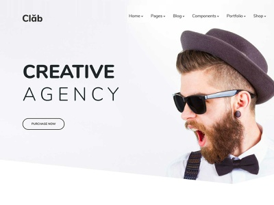 Creative Home Page travel startup responsive products landing portfolio listing job insurance gym and fitness creative corporate charity business bootstrap agency