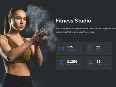 Gym & Fitness travel startup responsive products landing portfolio listing job insurance gym and fitness creative corporate charity business bootstrap agency