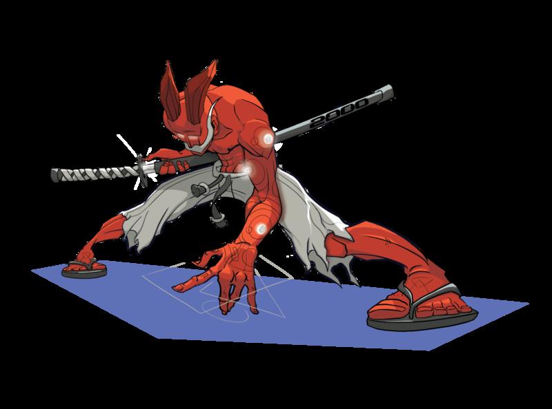 Samurai Oni concept art character design illustration demon wizard katana japanese culture japanese art folklore oni samurai