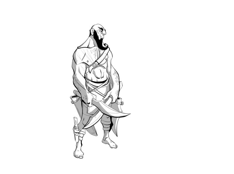 """Daggers"" Wallace, the hunter. video games character design photoshop illustration art design art illustration scifi greyscale concept art character concept character animation character design character art"