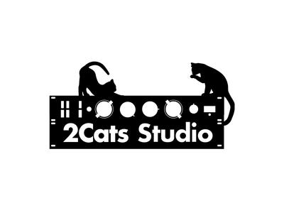 2Cats Studio Logo illustration design vector illustrator branding branding design logodesign logotype design art logo