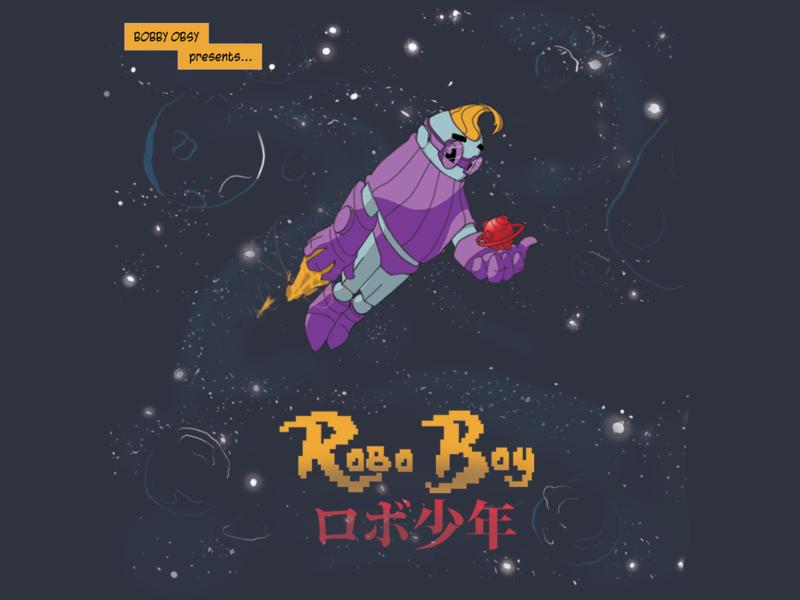 Robo Boy wacom cintiq photoshop branding illustration art illustration illustrator design art cover art logo figure drawing character design