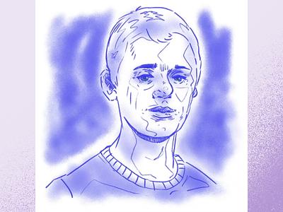 Self Portrait design face ink procreate digital selfportrait photoshop illustration