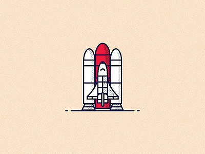 Space Shuttle illustration icon vector space shuttle spaceshuttle photoshop illustrator