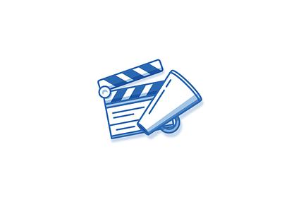Movie Icon iconography film clapperboard movies icons icon logo illustration