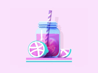 Dribbble Pink Lemonade drink community sticker lemonade dribbble