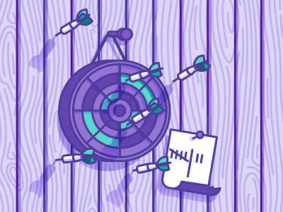 Reality Vs Expectations expectations reality illustration vector dartboard darts