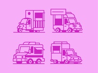 Rough Food Truck icons