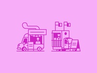 Rough Food Truck icons 2