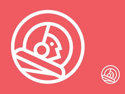 Through Adversity To The Stars moon astronaut space logo identity branding mark