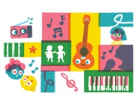 Kids Music Pattern
