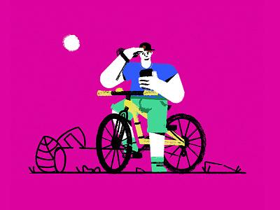 Vancouver Bike Rider vector illustration rider bike