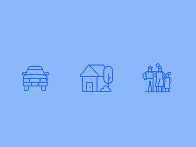 Family Icons icons carp house icon family