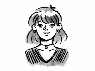 Ink Girl Portrait girl inktober ink portrait