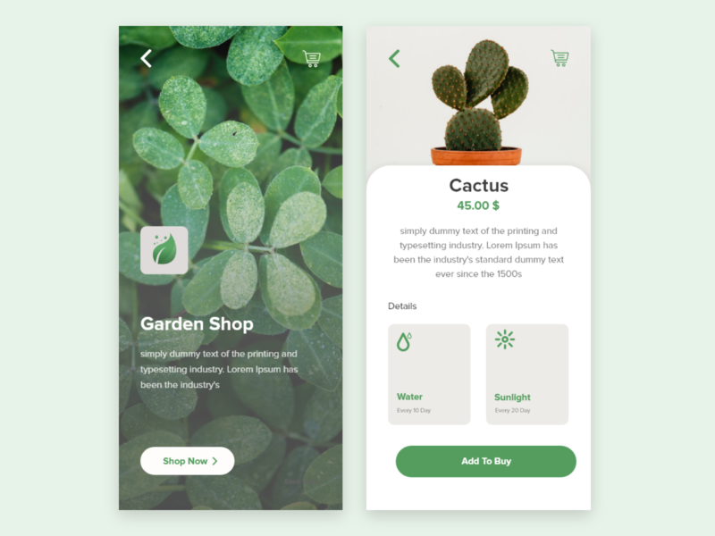 Plants App Exploration exploration ux design ui design plants minimalist iphone x ios ux ui mobile design app