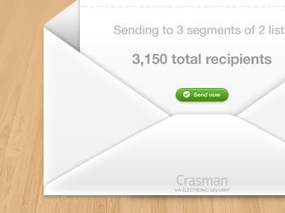 Send to lists mail email web ui ui web button letter envelope segment mailing list newsletter direct marketing cloud app wood texture crasman