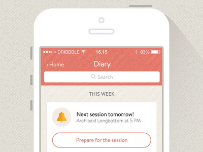 Therapy App Concept trauma psychology app design texture denim muted red app ios iphone
