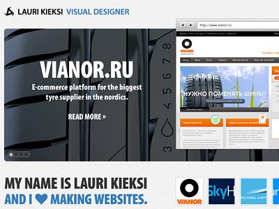 Portfolio portfolio website personal web design layout carousel showcase gallery