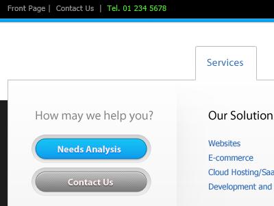 Dropdown Menu for Corporate Site corporate enterprise web layout webdesign dropdown menu navigation button web button links