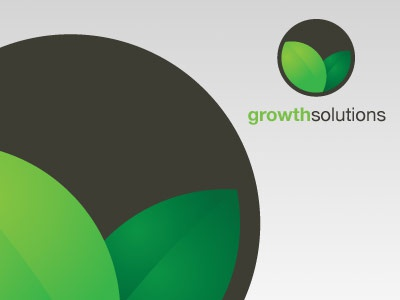 Growth Solutions Logo Template eco ecological environment nature leaf organic growth green black envato graphicriver logo stock royalty free template