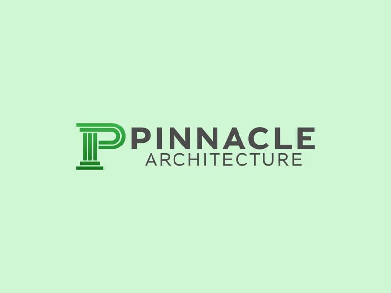 Pinnacle Architecture Logo art branding brand logo ideas logo inspiration logo graphic design graphics
