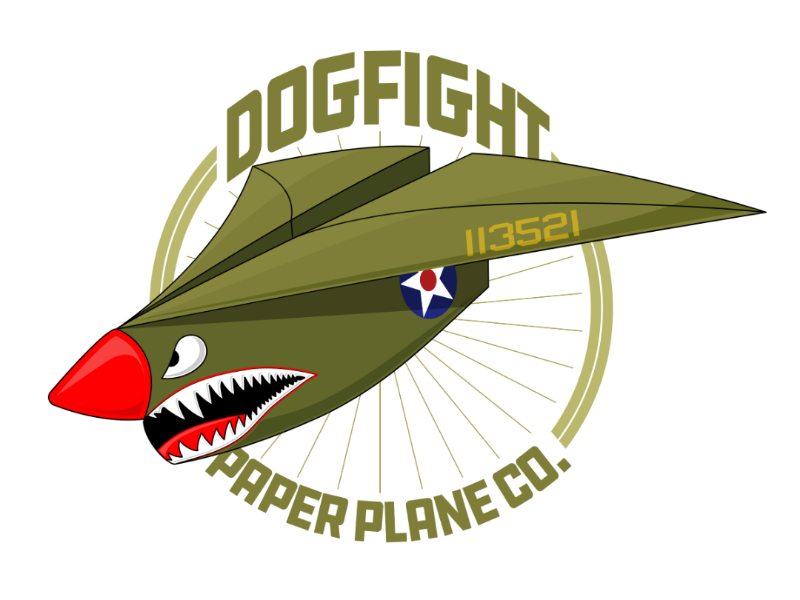 Dogfight Paper Airplane Co. vector artwork vector typography logos idea logo illustration graphic  design graphic design branding badge logo badge design
