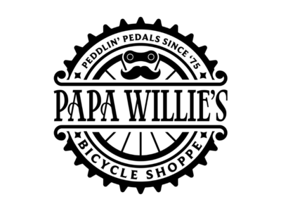 Papa Willie's Bicycle Shoppe Logo