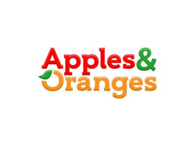 Apples & Oranges Smoothie Shop Logo