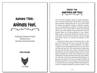 """Book Interior Design for """"Humans Think. Animals Feel."""""""
