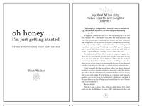 """Book Interior Design for """"Oh Honey..."""""""