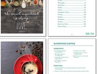 "Book Design for ""The Healthy, Happy Recipe Book"""