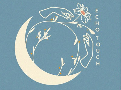 Eco logotype eco floral flower moon vectorart vector figma logotype ui branding logo design sketches illustration grain illustrator photoshop art