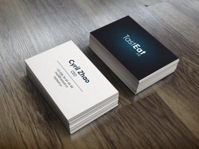 TastEat.co Business Cards card business color graphism design illustration brand identity logo
