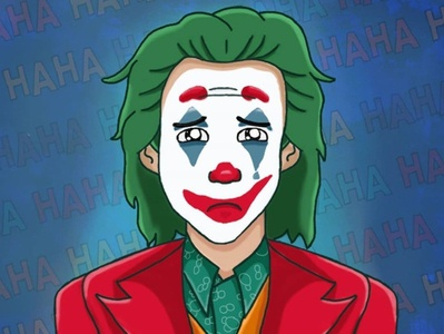 Joker illustrator cartoon illustration vector art digital art cartoon illustration digital illustration batman joaquin phoenix joker joker movie