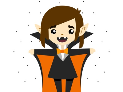 Cute Vampire childrens book cartoon illustration character design illustration vector illustration girl vampire girl character cute vampire flat illustration flatdesign vector digital art digital illustration
