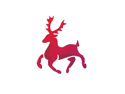 Red Stag graphic design logodesign design elk branding logo animal deer stag