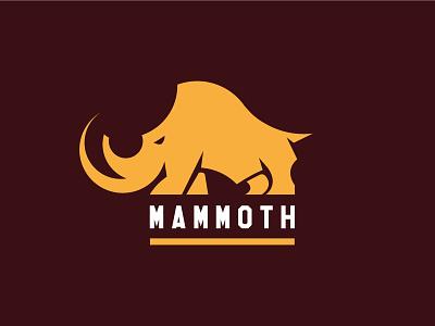 Mammoth huge gigantic african illustration branding animal vector trunk elephant mammoth