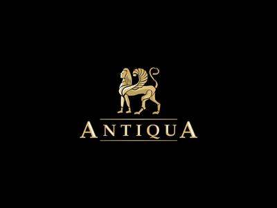 Antiqua logo turism old ancient history antiqua egyp logo
