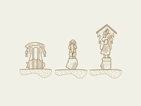 Wooden sculpture icons