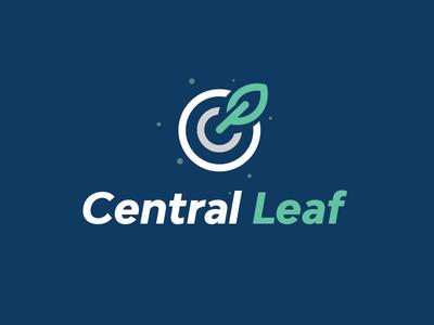 Central Leaf eco circle green leaf target central