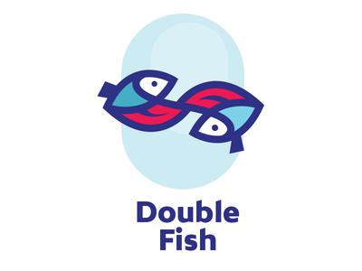 Double Fish sea blue aqua water double fish