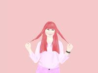 Cute Girl design illustration