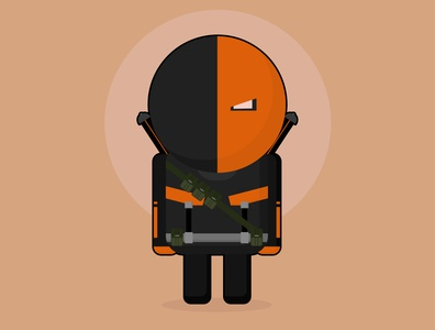Flat Design Deathstroke exploration illustrator art design vector flat minimal illustration