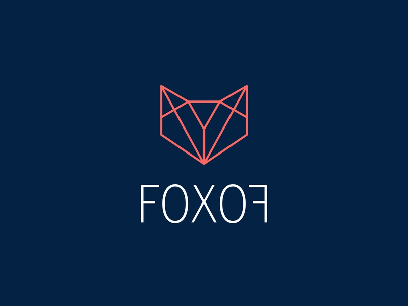 Fox Logo symetry geometric design design illustration typography logo