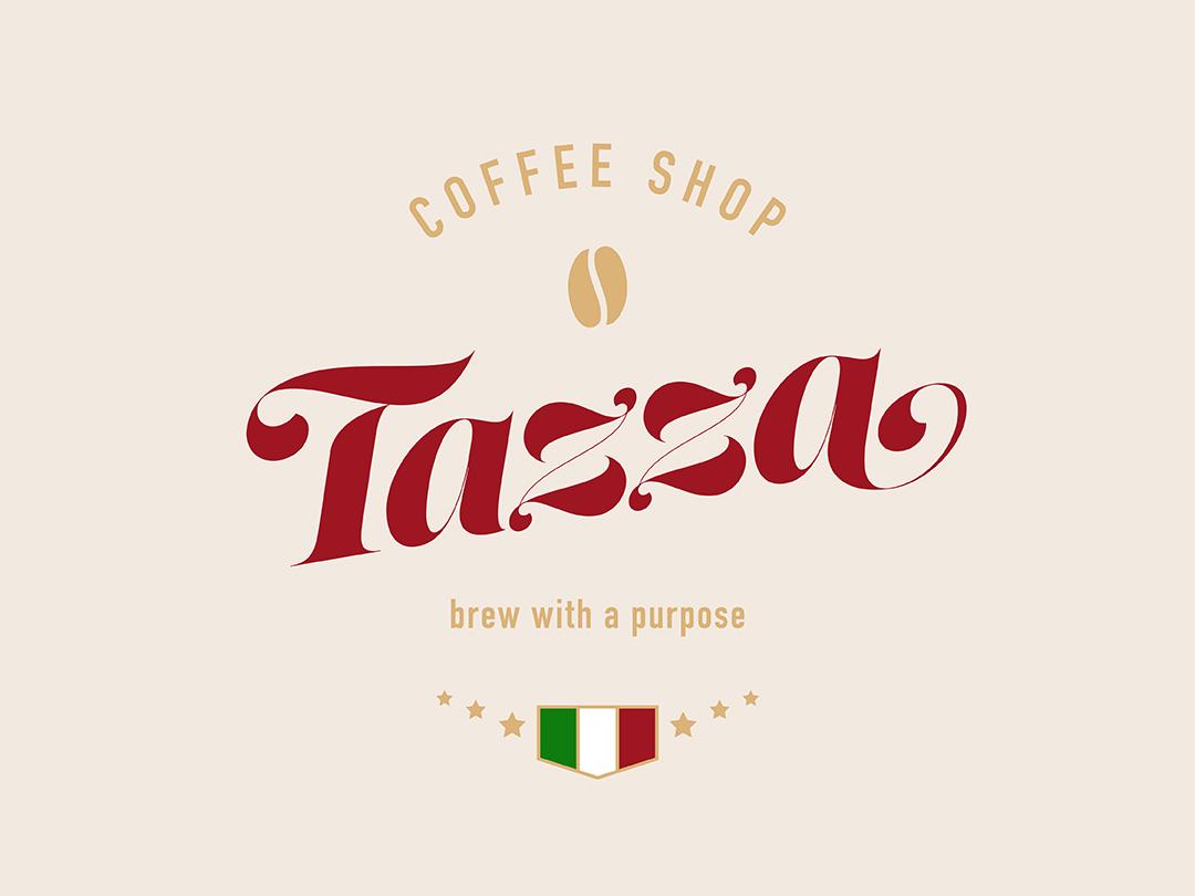 Logo Coffee Shop italian restaurant coffee shop colors lust script branding logo typography design